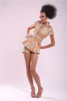 Ankara shirt & shorts by Chianu International Fashions.