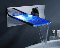 Led water fall bathroom sink Faucet