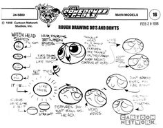 Living Lines Library: The Powerpuff Girls (TV Series 1998–2004) - Model Sheets