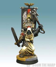 Warhammer 40k: Space Marines, Asmodai, Dark Angels Interrogator Chaplain via From the Warp