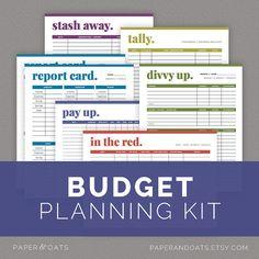 Budget Planning Kit, Bill Tracker, Personal Finance, Money Management  //  Household PDF Printables on Etsy, $7.00