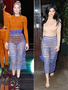 High Fashion Faceoff: Kylie Jenner's Balmain Skirt Is Ripped from the Runway http://stylenews.peoplestylewatch.com/2016/03/29/kylie-jenner-blue-balmain-skirt/