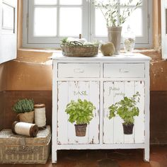 lovely painted cabinet  ~ Provence Inspired