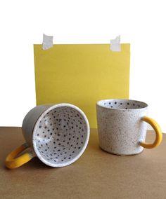 Rubber Dipped Polka Dot Mug | Recreation Center