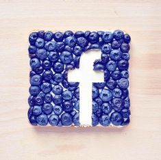 Facebook logo food art