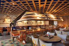 """""""LA PEÑITA DE JALTEMBA""""  En este nuevo proyecto de Savvy Studio se desarrolló una historia a modo de ficción sobre una pintoresca tribu perdida, la tribu de Jaltemba, de la cual surgió la inspiración del diseño de interiores y concepto de marca de una marisquería-bar llamada La Peñita de Jaltemba, ubicada en Playa del Carmen, en el Caribe mexicano. http://www.podiomx.com/2014/01/la-penita-de-jaltemba.html"""