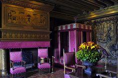 1575-89 Chateau de Chambord Loir-et-Cher, Val de Loire, France.  Renaissance silks were VIBRANT.