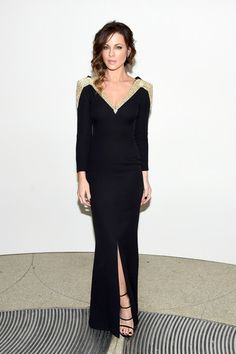 Kate Beckinsale attends the 2016 Guggenheim International Gala Made Possible By Dior at Solomon R. Guggenheim Museum on November 17, 2016 in New York City.