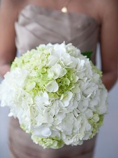 There's just something so fresh and classic about a Green and White Hydrangea Bouquet