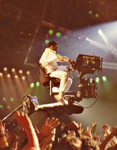 Freddie on camera boom