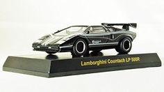 Japan Kyosho 1:64 Ratio Die-cast Car Lamborghini Collection 3 Countach LP 500R Black Color