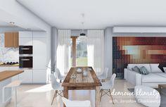 Projekt domu Bagatela IV G : Projekt domu Bagatela IV G, wizualizacja 7 20 M2, Facade, House Plans, Divider, Sweet Home, How To Plan, Table, Furniture, Home Decor
