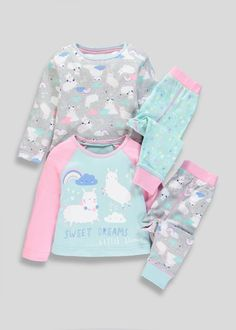 Ensure the perfect night's sleep with our boys & girls pyjamas, nightwear and onesies. Choose from a selection of novelty onesies, printed pyjama sets and slippers. Baby Girl Pajamas, Cute Pajamas, Frocks For Girls, Girls Pajamas, Pajamas Women, Kids Nightwear, Cute Sleepwear, Girls Sleepwear, Disney Baby Clothes