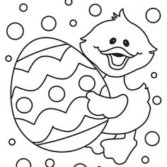 Easter Chick Free Printable Coloring Page