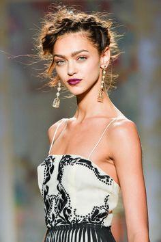 Zhenya Katava at Nicole Miller Spring 2014 Ready-To-Wear, New York Fashion Week