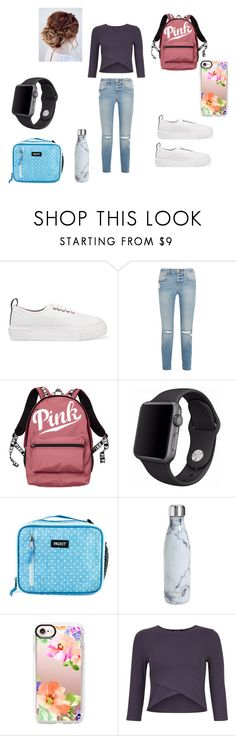 """back to school"" by summer-grace-2003 on Polyvore featuring Eytys, Frame, Victoria's Secret, Apple, PackIt, S'well and Casetify"