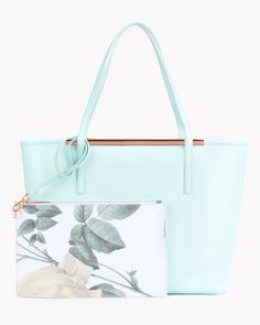Crosshatch leather shopper - Mint | Bags | Ted Baker UK