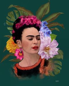 Freida Kahlo Paintings, Frida Paintings, Mexican Paintings, Frida Kahlo Artwork, Frida Art, Heart Painting, Acrylic Painting Canvas, Frida Kahlo Cartoon, Retro Images