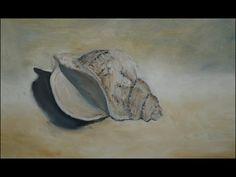 Schelp, olieverf op paneel door Nathalie