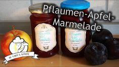 Pflaumen-Apfel Marmelade - Thermomix® - Rezept von Vanys Küche Muffin, Dairy, Cheese, Fruit, Breakfast, Youtube, Food, Thermomix, Eten