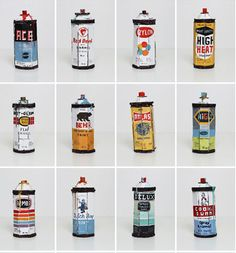 Spray Cans by Bill BARMINSKI