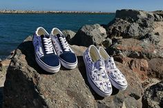 Life's a beach in the Hula Stripes Old Skool and Slip-On. Shop or find a store near you at vans.com