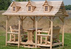 Large Canadian cedar swing by Flamborough Patio Cedar Furniture, Gazebo, Outdoor Structures, Patio, Projects, Log Projects, Kiosk, Blue Prints, Pavilion
