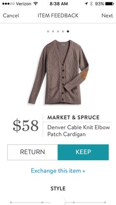 Market & Spruce, Denver Knit Elbow Patch Cardigan - October 2016, #StitchFix. I love Stitch Fix! A personalized styling service and it's amazing!! Simply fill out a style profile with sizing and preferences. Then your very own stylist selects 5 pieces to send to you to try out at home. Keep what you love and return what you don't. Only a $20 fee which is also applied to anything you keep. Plus, if you keep all 5 pieces you get 25% off! Free shipping both ways. Schedule your first fix using…