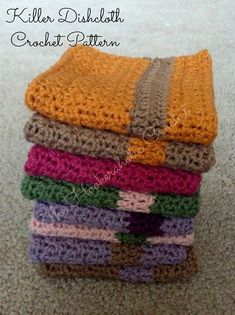 Killer Dishcloth By Shannon Kilmartin/The Hookeraholic Crochet - Free Crochet Pattern - (ravelry)