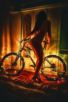 lovely bike with lights ....