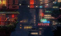 Tim and Adrien Soret, brothers from Paris, were quietly developing a Studio Ghibli-inspired dark fantasy game when the Cyberpunk Jam digitally rolled into town. Cyberpunk Games, Cyberpunk City, Arte Cyberpunk, Vaporwave, Blade Runner, Rick Deckard, Arte 8 Bits, Space Opera, Foto Gif