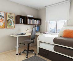50 Thoughtful Teenage Bedroom Layouts | DigsDigs