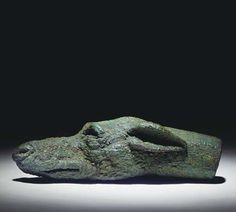 A Roman Bronze Head of a Hound, Probably a Handle Terminal | 2nd cent CE