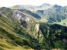 Dramatic landscape of the Puy de Sancy - a complex volcano heavily eroded by glaciers and a haven for wildlife