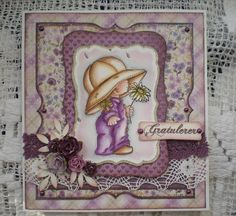 Morehead card by Iren S. Mikalsen, coloring distress ink.