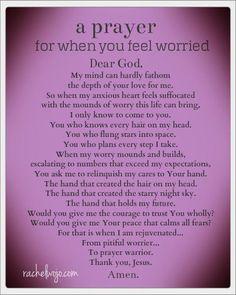 A Prayer for When You Feel Worried #soulmateprayer