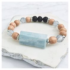 Graduation Gift Jade Essential Oil Diffuser Bracelet ~ Heart Chakra ~ Lucky Elephant Yoga Gemstone Jewelry ~ Natural Aromatherapy ~ Birthday