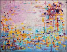 "SOLD ~ ""Haze Fetti"" to Christine in Rumson, NJ 30"" x 24"" 
