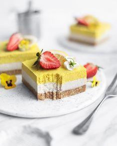 "Mei Yee on Instagram: "" No-bake Lemon Cheesecake 💛   Made with @naturescharm vegan coconut whipping cream 😋🌱  Have a wonderful Friday, everyone! Sending love,…"""
