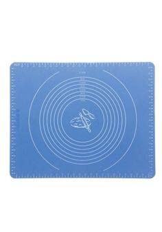 Blå bakematte i silikon. Lettvint og praktisk. Smørefri og tåler oppvaskmaskin. 8 oppmålte ringer fra 15-37,5 cm. Str: 50x40cm. Tykkelse 0,8cm.