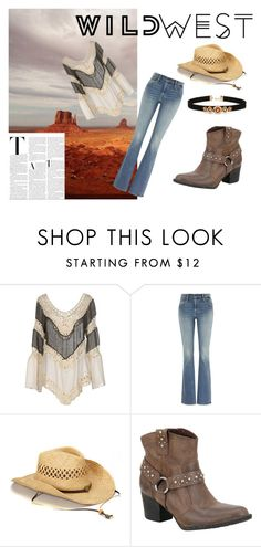 """cowgirl time!"" by arisha3-1-2005 ❤ liked on Polyvore featuring Care Of You, Levi's, Børn, Forever 21 and wildwest"