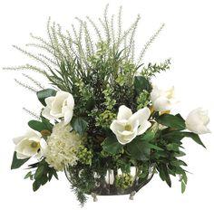 Magnolia, Hydrangea and Meadow Arrangement
