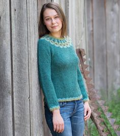 A modern Icelandic style lopapeysa worked at a loose gauge for a deliciously lightweight garment. Stopover is knit entirely in the round with subtle waist shaping Inspired by my week long Stopover in Iceland!