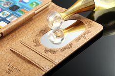Coque CHANEL pochette en cuir de bonne qualité avec petitmiroir pour iPhone 5 6 6plus achat 21 euros chez www.lelinker.fr