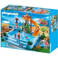 Playmobil 4858 Pool with Water Slide: Amazon.co.uk: Toys & Games