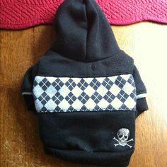 XS Dog Skull Hoodie