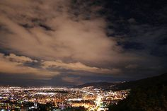 Night view of Bogota city from the mountains. Alejandro Riveros- via Flickr.