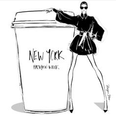 """508 Likes, 6 Comments - Megan Hess (@meganhess_official) on Instagram: """"Today's coffee has to be a giant Newyorker! It's New York Fashion Week! #MeganHessCoffeeGirls"""""""