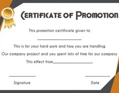 Promotion Certificate Template : Free Templates for Students, Employees & Army - Template Sumo Blank Certificate Template, Certificate Of Achievement Template, Certificate Format, Printable Certificates, Sample Resume Templates, Letterhead Template, Modern Resume Template, Print Templates, Nursing Documentation