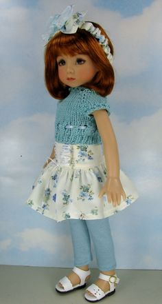 """Dianna EFFNER13"""" Little Darlings OOAK Outfit Totally Teal by Janet"""